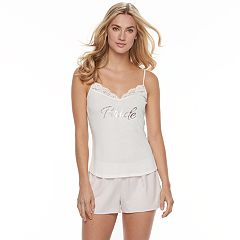 Women's Apt. 9® Pajamas: Bridal Cami & Shorts 2 pc PJ Set
