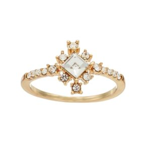 LC Lauren Conrad Square Cluster Ring