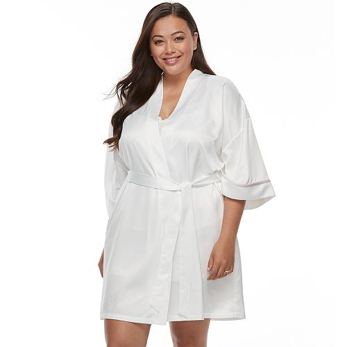 Plus Size Apt. 9® Embroidered Bridal Wrapper Robe