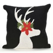 Liora Manne Frontporch Reindeer Indoor Outdoor Throw Pillow