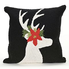 Liora Manne Frontporch Reindeer Indoor Outdoor Throw Pillow