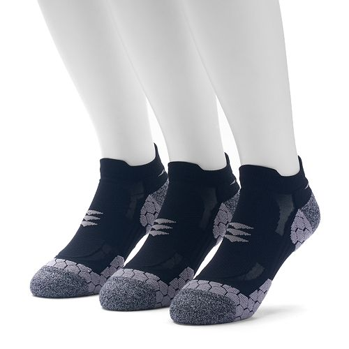 Men's GOLDTOE 3-pack Power Sox Apex Pro Double-Tab No-Show Socks
