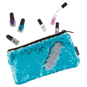 Girls 4-16 Fashion Angels Magic Flip Sequin Nail Polish& Wristlet Set