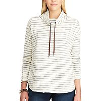Women's Chaps Striped Terry Pullover