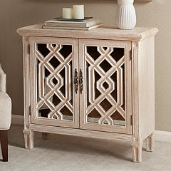 Madison Park Henrik Mirrored Storage Cabinet