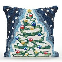 Liora Manne Frontporch Christmas Tree Indoor Outdoor Throw Pillow