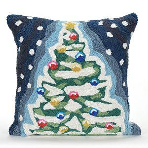 Liora Manne Frontporch Christmas Tree Indoor Outdoor Throw Pillow