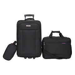 American Explorer Clark 3-Piece Wheeled Luggage Set