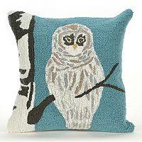 Liora Manne Frontporch Snowy Owl Indoor Outdoor Throw Pillow