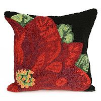 Liora Manne Frontporch Poinsettia Indoor Outdoor Throw Pillow