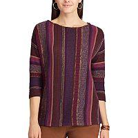 Women's Chaps Striped Cotton Sweater