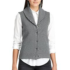 Women's Chaps Checked Sweater Vest