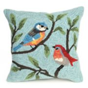 Liora Manne Frontporch Birds on Branches Indoor Outdoor Throw Pillow