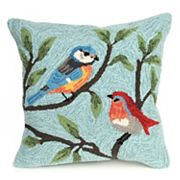 Liora Manne Frontporch Birds on Branches Indoor Outdoor Throw Pillow