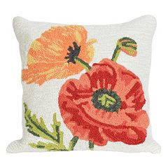 Liora Manne Frontporch Icelandic Poppies Indoor Outdoor Throw Pillow