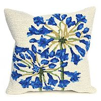 Liora Manne Frontporch Desert Lily Indoor Outdoor Throw Pillow