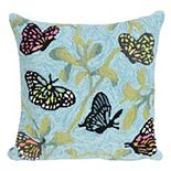 Liora Manne Frontporch Butterflies on Tree Indoor Outdoor Throw Pillow