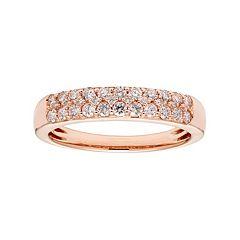 14k Gold 1/2 Carat T.W. IGL Certified Diamond Pave Wedding Band
