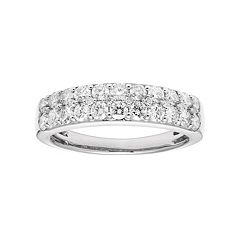 14k Gold 1 Carat T.W. IGL Certified Diamond Pave Wedding Band