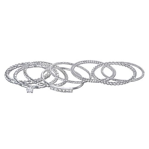 LC Lauren Conrad Twist Stack Ring Set