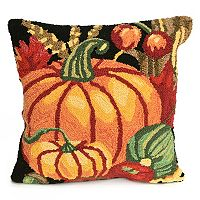 Liora Manne Frontporch Pumpkin Indoor Outdoor Throw Pillow
