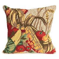 Liora Manne Frontporch Autumn Basket Indoor Outdoor Throw Pillow