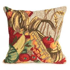 Liora Manne Frontporch Autumn Basket Indoor Outdoor Throw Pillow