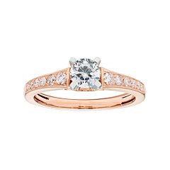 14k Gold 3/4 Carat T.W. IGL Certified Diamond Engagement Ring