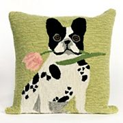 Liora Manne Frontporch Flowery Frenchy Indoor Outdoor Throw Pillow