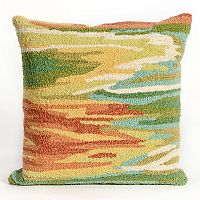 Liora Manne Frontporch Watercolor Indoor Outdoor Throw Pillow