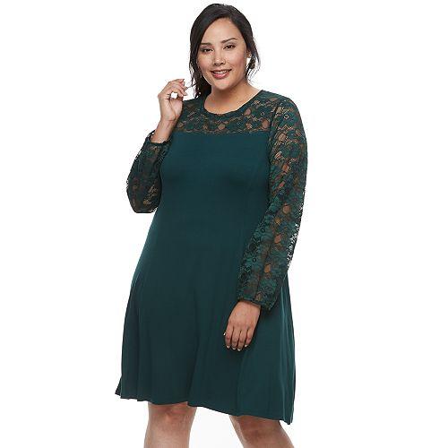 Plus Size Apt 9 Lace Yoke A Line Dress