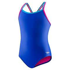 Girls 7-16 Speedo Crossback One-Piece Swimsuit