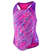 Girls 7-16 Speedo Printed Sport Splice One-Piece Swimsuit