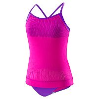 Girls 7-16 Speedo Blouson Tankini Top & Bottoms Swimsuit Set