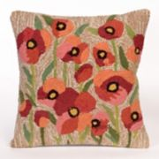 Liora Manne Frontporch Poppies Indoor Outdoor Throw Pillow