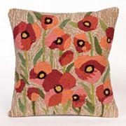 Liora Manne Frontporch Poppies Indoor Outdoor Throw Pillow