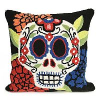 Liora Manne Frontporch Mr. Muerto Indoor Outdoor Throw Pillow