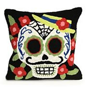 Liora Manne Frontporch Mrs. Muerto Indoor Outdoor Throw Pillow