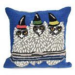 Liora Manne Frontporch Owl-O-Ween Indoor Outdoor Throw Pillow