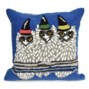 Liora Manne Frontporch Owl-O-Ween Indoor Outdoor Throw Pillow