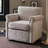 Madison Park Helleman Swivel Arm Chair
