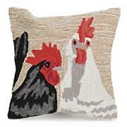 Liora Manne Frontporch Rooster Duet Indoor Outdoor Throw Pillow