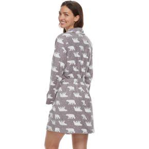 Women's SONOMA Goods for Life™ Shawl Collar Microfleece Robe