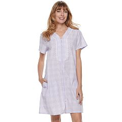Women's Croft & Barrow® Woven Zip-Up Duster Robe