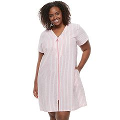 Plus Size Croft & Barrow® Woven Zip-Up Duster Robe