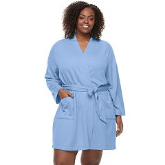 Plus Size Croft & Barrow® Quilted Wrap Robe