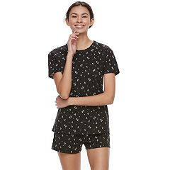 Juniors' SO® Short Sleeve Tee & Shorts Pajama Set