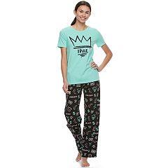 Juniors' SO® Short Sleeve Pajama Set