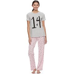 Juniors' SO® Short Sleeve Pajama Set
