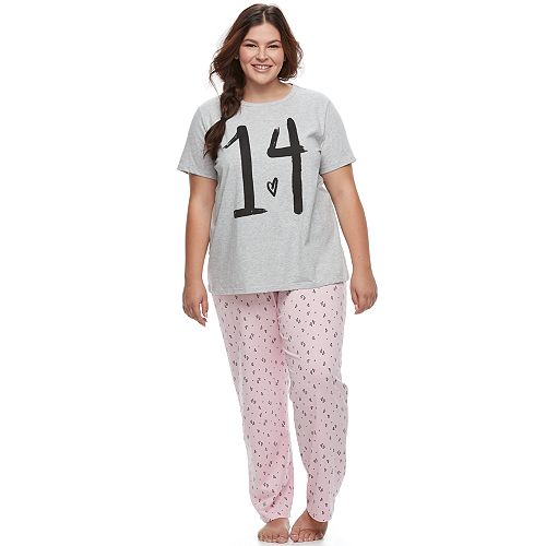 Juniors' Plus Size SO® Graphic Sleep Set
